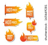 hot price sales labels | Shutterstock .eps vector #165669281