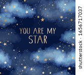 you are my star vector dark... | Shutterstock .eps vector #1656717037