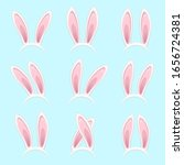 easter bunny ears stickers...   Shutterstock .eps vector #1656724381