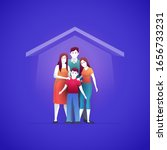 family is buying a house and... | Shutterstock .eps vector #1656733231