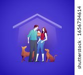 family is buying a house and... | Shutterstock .eps vector #1656734614