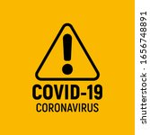 coronavirus warning and... | Shutterstock .eps vector #1656748891