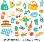 picnic seamless pattern.... | Shutterstock .eps vector #1656777997