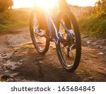 low angle view of cyclist... | Shutterstock . vector #165684845