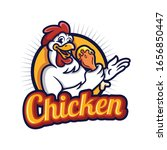 chicken logo mascot vector... | Shutterstock .eps vector #1656850447