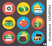 vector icons for web and mobile ... | Shutterstock .eps vector #165685361