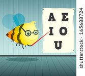 test of ophthalmologist bee in...   Shutterstock .eps vector #165688724