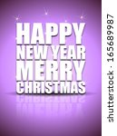 happy new year lettering... | Shutterstock .eps vector #165689987