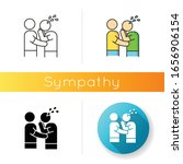 Sympathy Icon. Linear Black An...
