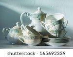 grandma's china  | Shutterstock . vector #165692339