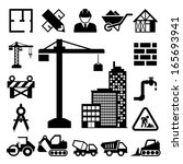 construction icons set... | Shutterstock .eps vector #165693941