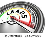 leads conceptual meter indicate ...   Shutterstock . vector #165694019
