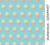 holiday retro polka dot... | Shutterstock .eps vector #165694457