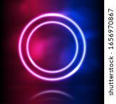 glowing neon round vector frame.... | Shutterstock .eps vector #1656970867