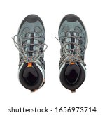 top view of hiking boots...   Shutterstock . vector #1656973714