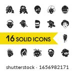 character icons set with...