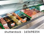 Variety Of Meat Displayed In...