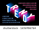 isometric style trendy 3d font  ... | Shutterstock .eps vector #1656986764