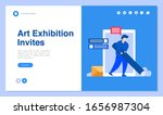 web page design with invitation ... | Shutterstock .eps vector #1656987304