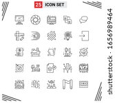 25 icons line style. grid based ... | Shutterstock .eps vector #1656989464