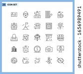25 icons. line style creative... | Shutterstock .eps vector #1656989491