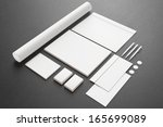 blank stationery   corporate id ... | Shutterstock . vector #165699089