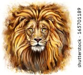 Lion Head Digital Painting ...