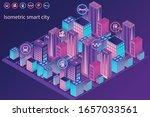 smart city or smart building...   Shutterstock .eps vector #1657033561