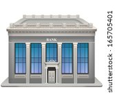 Bank building. Vector illustration. Eps 10. - stock vector