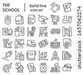 school line icon set. education ... | Shutterstock .eps vector #1657062274