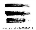 black ink paint stroke... | Shutterstock .eps vector #1657076311