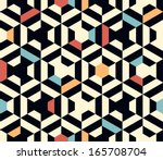Stock vector seamless vector geometric strip pattern background 165708704