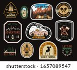 vintage camp patches logos ... | Shutterstock .eps vector #1657089547