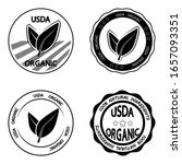 Usda Organic. Set Of Stamp For...