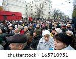 kyiv  ukraine   dec 1  faces of ... | Shutterstock . vector #165710951