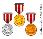 military medals with stars