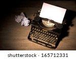 Vintage Typewriter And A Blank...