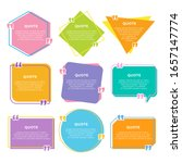 colorful quote box in flat... | Shutterstock .eps vector #1657147774