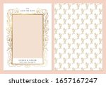 gold floral photo card template ... | Shutterstock .eps vector #1657167247