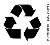 recycle sign isolated on white...   Shutterstock .eps vector #1657192951