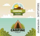 set of outdoor adventure camp... | Shutterstock .eps vector #1657195381