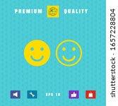 smile icon. happy face symbol... | Shutterstock .eps vector #1657228804