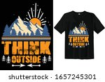 think outside outdoor t shirt.... | Shutterstock .eps vector #1657245301