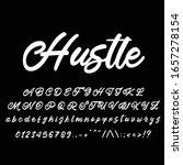 best alphabet hustle vintage... | Shutterstock .eps vector #1657278154