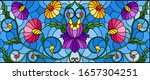 illustration in stained glass... | Shutterstock .eps vector #1657304251