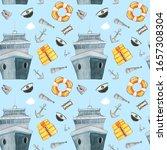 cute hand drawn nautical ... | Shutterstock . vector #1657308304