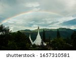 Rainbow Across The Chedi Of Wat ...