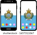 two black smartphones with a... | Shutterstock .eps vector #1657311067