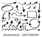 business arrows hand drawn... | Shutterstock .eps vector #1657320394