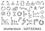 business arrows hand drawn... | Shutterstock .eps vector #1657323661
